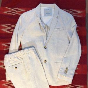 Natural linen suit